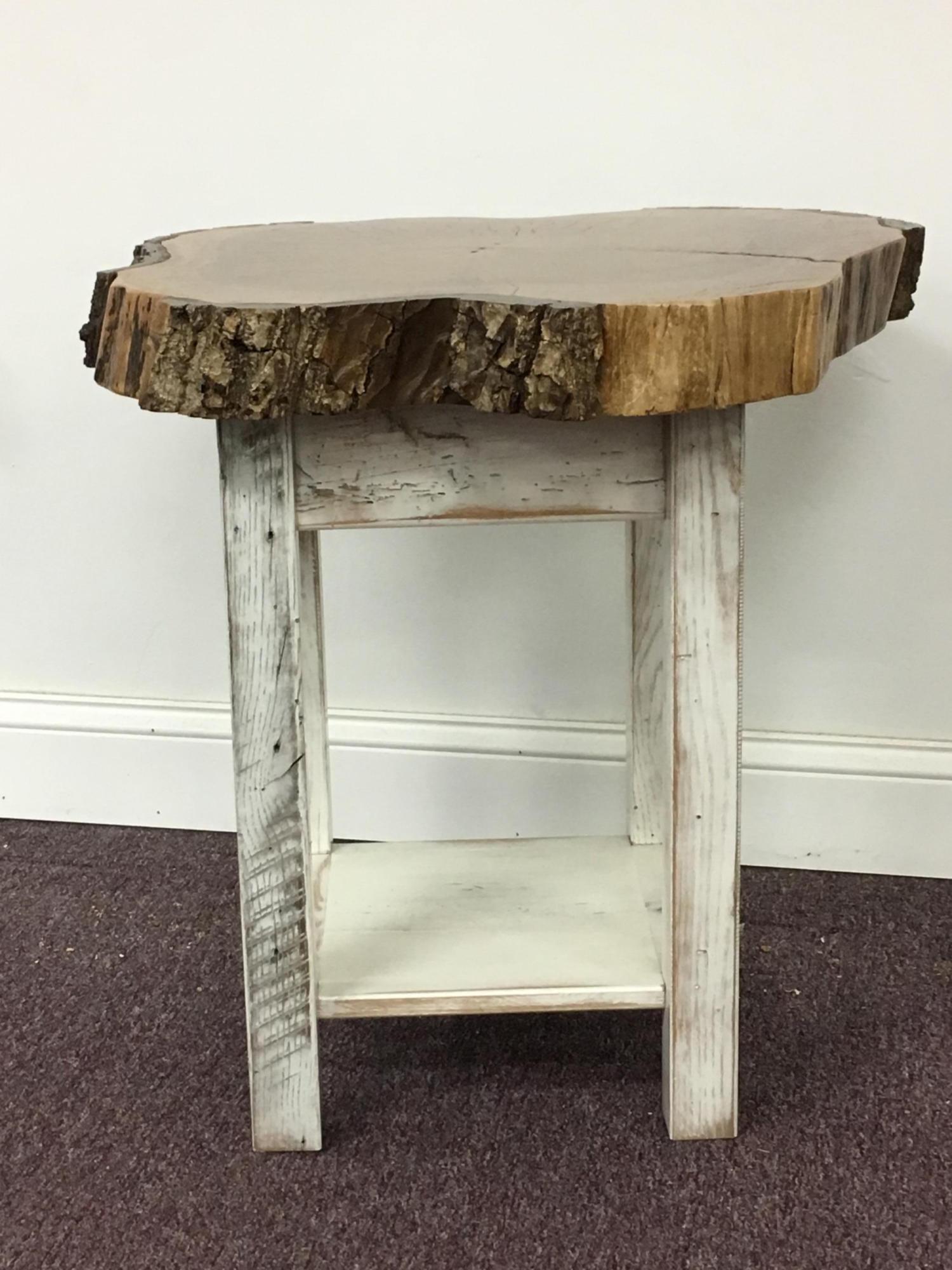 Walnut Slab End Table